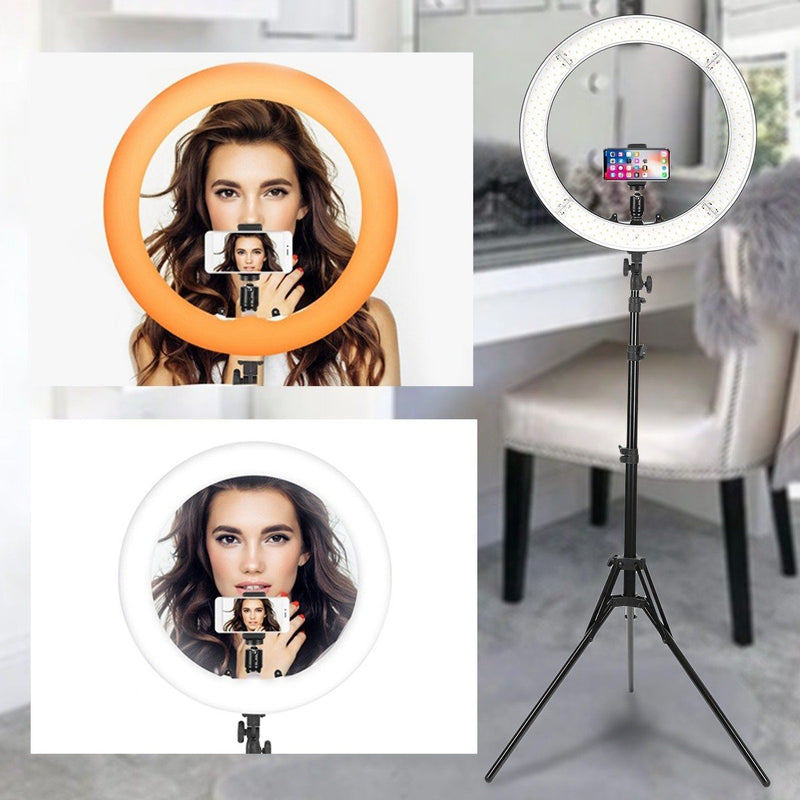 "18"" LED Ring Light 55W 3200K-5 600K Dimmable Selfie Ring Light Beauty & Personal Care - DailySale"