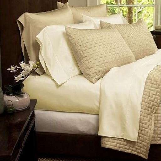 1800 Series Sheets Super-Soft Bamboo Fiber - Assorted Colors and Sizes Linen & Bedding California King Cream - DailySale
