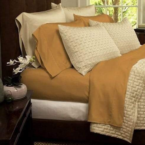 1800 Series Sheets Super-Soft Bamboo Fiber - Assorted Colors and Sizes Linen & Bedding California King Gold - DailySale