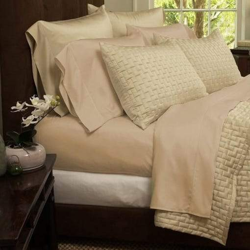 1800 Series Sheets Super-Soft Bamboo Fiber - Assorted Colors and Sizes Linen & Bedding California King Khaki - DailySale