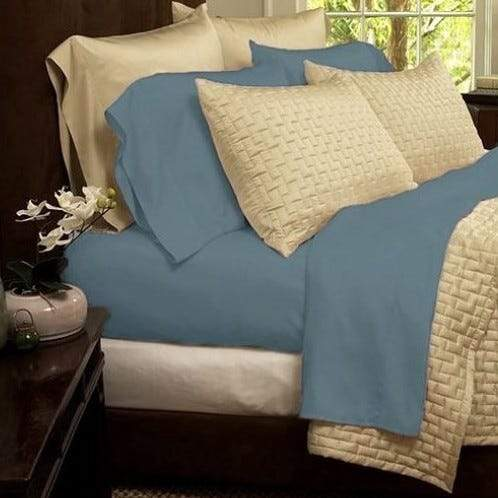 1800 Series Sheets Super-Soft Bamboo Fiber - Assorted Colors and Sizes Linen & Bedding California King Light Blue - DailySale