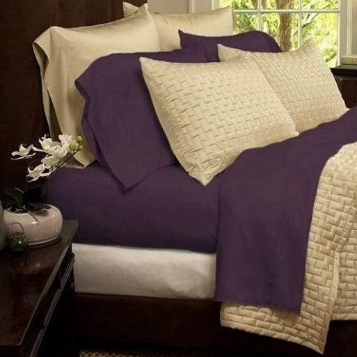 1800 Series Sheets Super-Soft Bamboo Fiber - Assorted Colors and Sizes Linen & Bedding California King Purple - DailySale