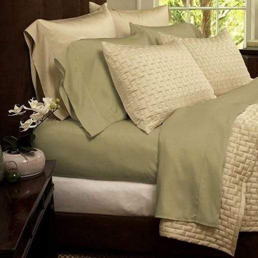 1800 Series Sheets Super-Soft Bamboo Fiber - Assorted Colors and Sizes Linen & Bedding California King Sage - DailySale