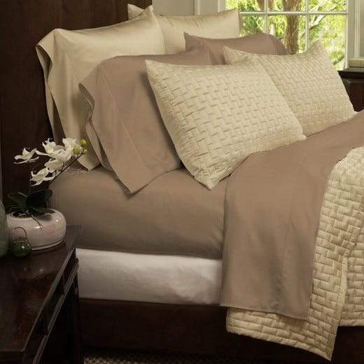 1800 Series Sheets Super-Soft Bamboo Fiber - Assorted Colors and Sizes Linen & Bedding California King Taupe - DailySale