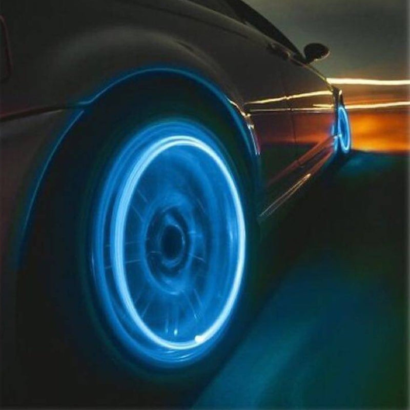 4-Pack: Motion Activated LED Tire Valve Stem Lights - Assorted Colors - DailySale, Inc