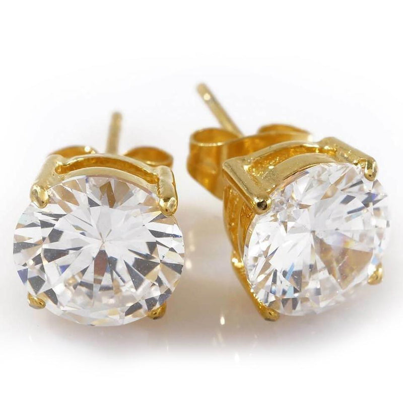 18K Yellow Gold Plated Stud Earrings Jewelry - DailySale