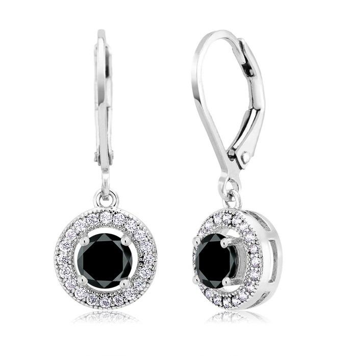 18kt White Gold Cubic Zirconia Drop Jet Earrings Jewelry - DailySale