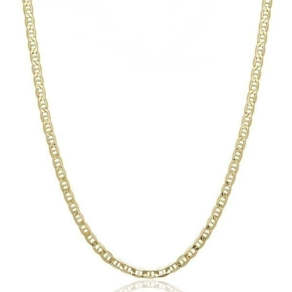 14K Solid Yellow Gold 2.5mm Marina Chain - Assorted Sizes - DailySale, Inc