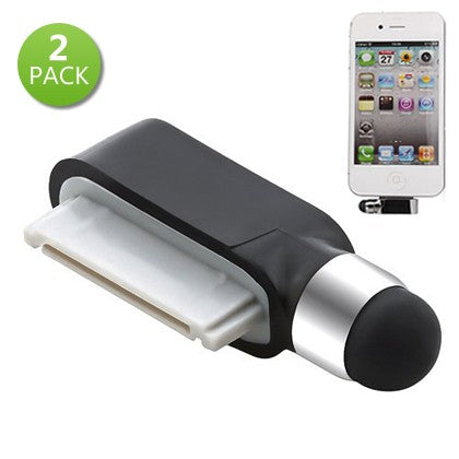 2-Pack: 2-in-1 Mini Stylus Dust Dock Cap for iPhone & iPad - DailySale, Inc