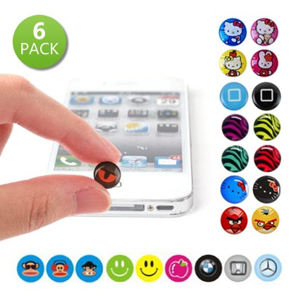 6 Pack Home Button Stickers for iPhone iPad and iPod - DailySale, Inc