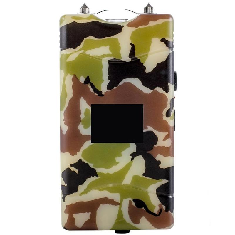 2-in-1 Self Defense 18,000,000V Volt Stun Gun with LED Flashlight Sports & Outdoors Camo - DailySale