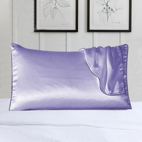 2-Pack: 100% Silk Pillow Cover with Trim Bedding Lavender - DailySale