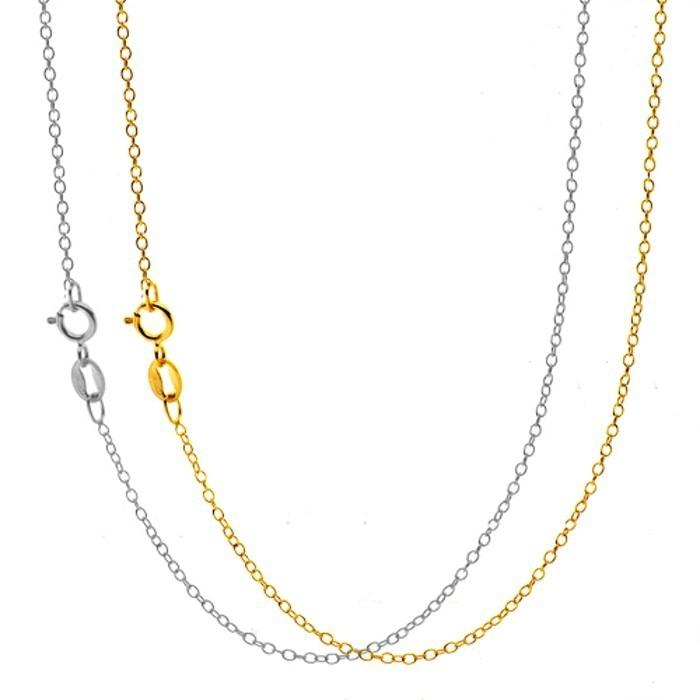 2-Pack: 18 Karat Gold Cable Chain Jewelry - DailySale