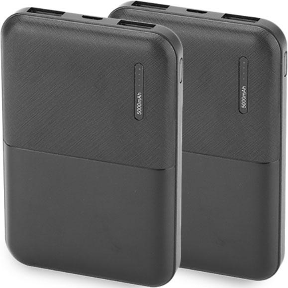 2-Pack: 5000mAh Power Bank Mobile Accessories - DailySale