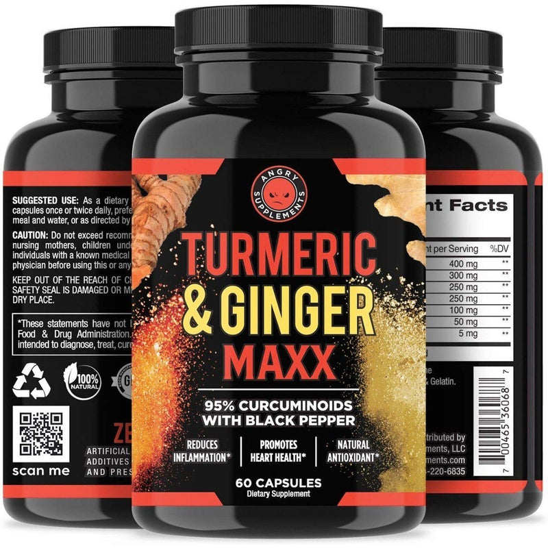 2-Pack: Angry Supplement Apple Cider Vinegar + Beetroot and Turmeric & Ginger Capsules Wellness & Fitness - DailySale