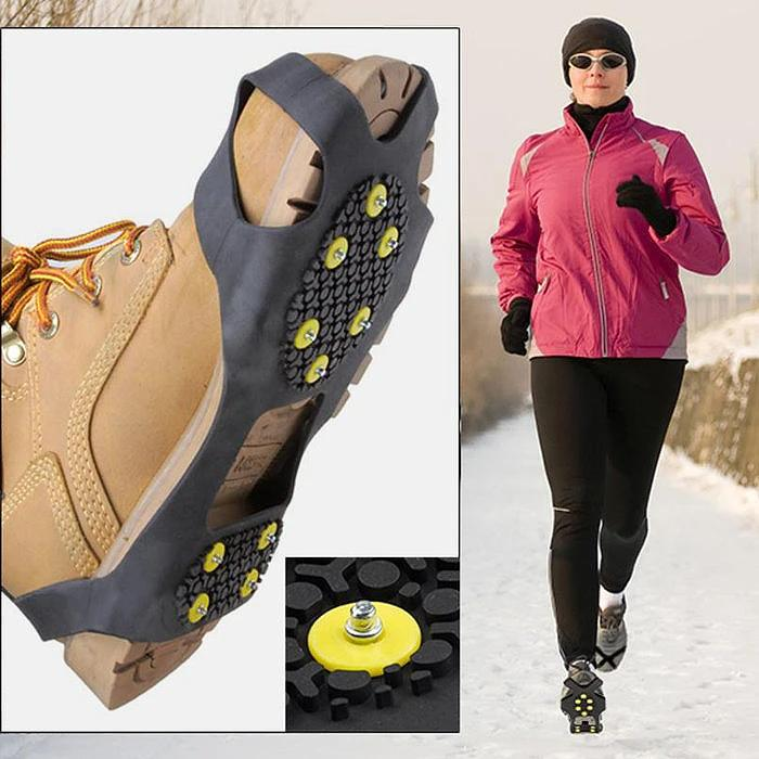 2-Pack: Attachable Anti-Skid Ice-Traction Cleats Sports & Outdoors - DailySale