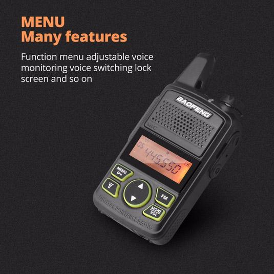 2-Pack: Baofeng T1 Walkie Talkie Tactical - DailySale