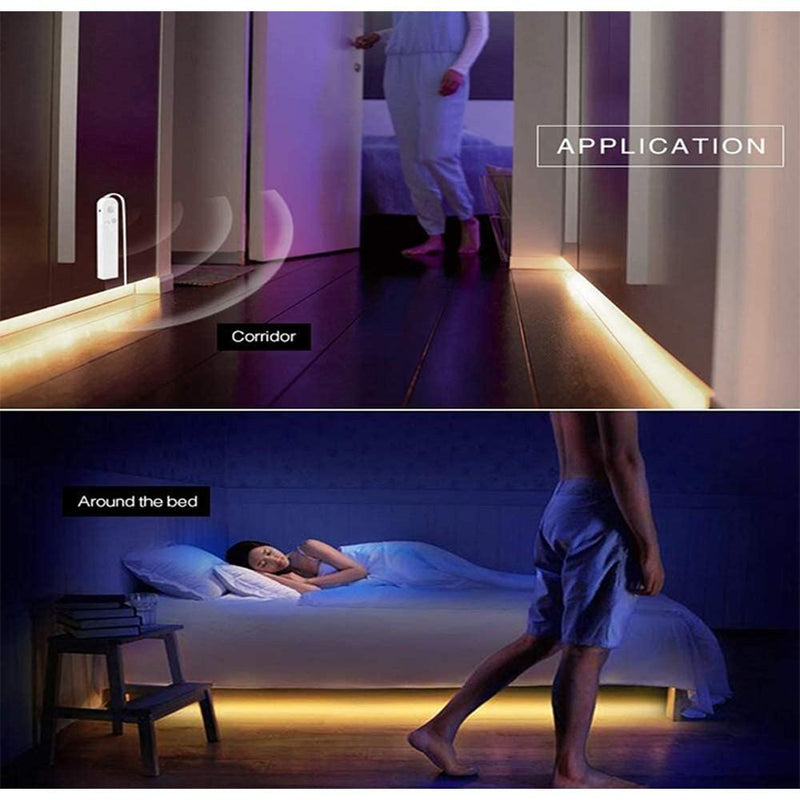 2-Pack: Battery Powered Motion Sensor LED Light Strips Indoor Lighting - DailySale
