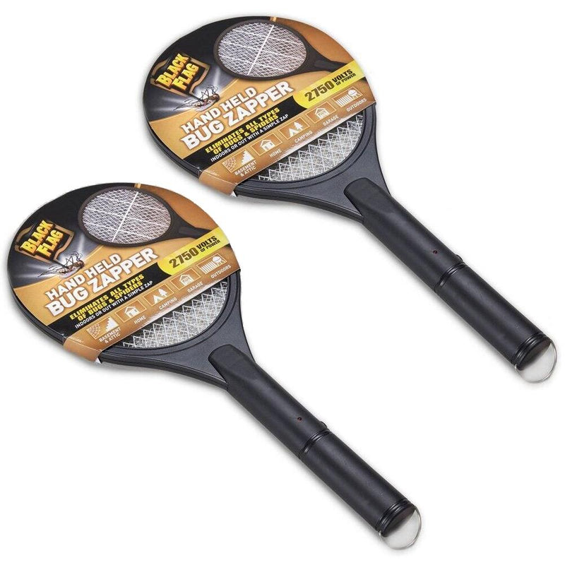 2-Pack: Black Flag Handheld Bug Zapper Rackets Sports & Outdoors - DailySale