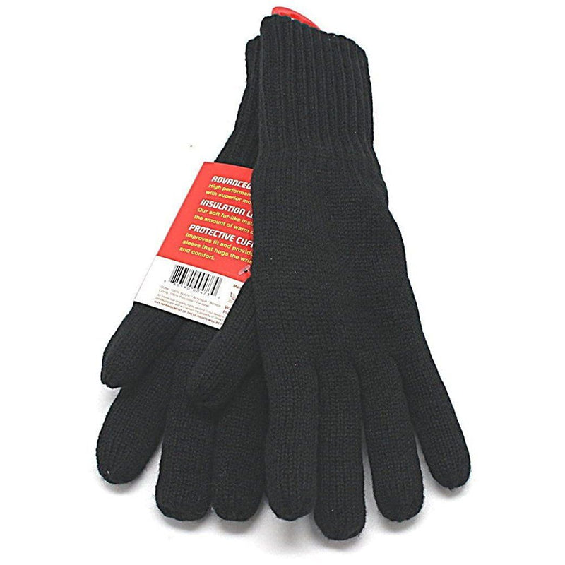 2-Pack: Heat Lockers Mens Black Thermal Gloves with Insulation Lining Men's Accessories - DailySale