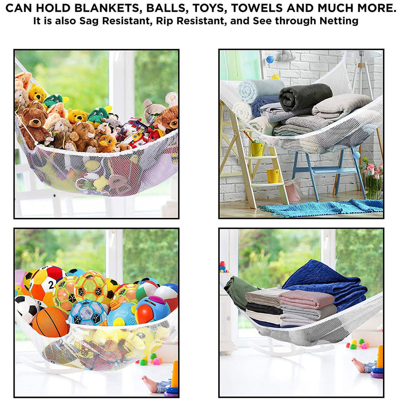 2-Pack: Jumbo Size Toy Stuffed Animal Storage Hammock with Elastic Bands Toys & Games - DailySale