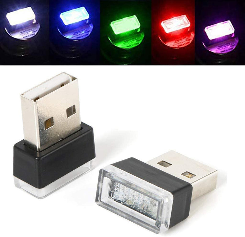 2-Pack: LED Mini Light Car Interior Wireless Atmosphere Light Automotive - DailySale