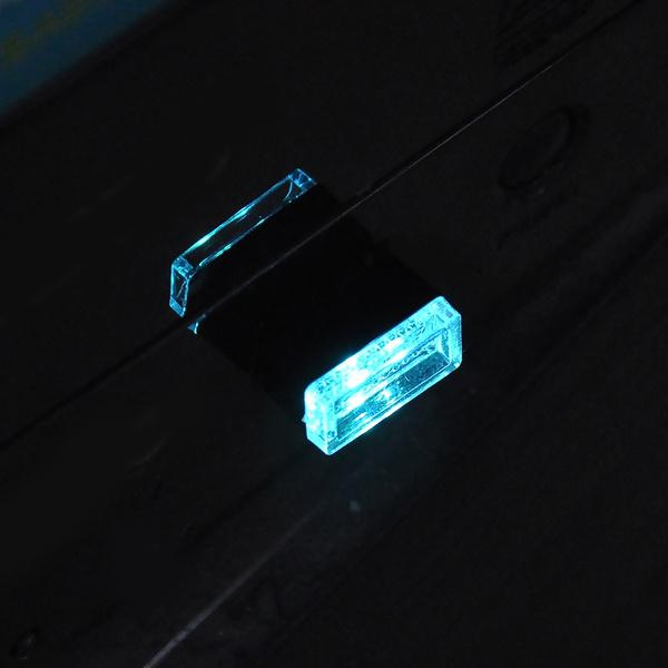 2-Pack: LED Mini Light Car Interior Wireless Atmosphere Light Automotive Light Blue - DailySale