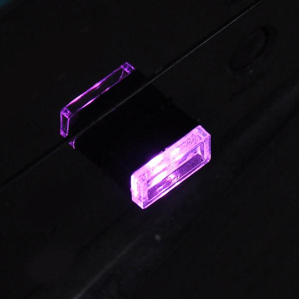 2-Pack: LED Mini Light Car Interior Wireless Atmosphere Light Automotive Purple - DailySale