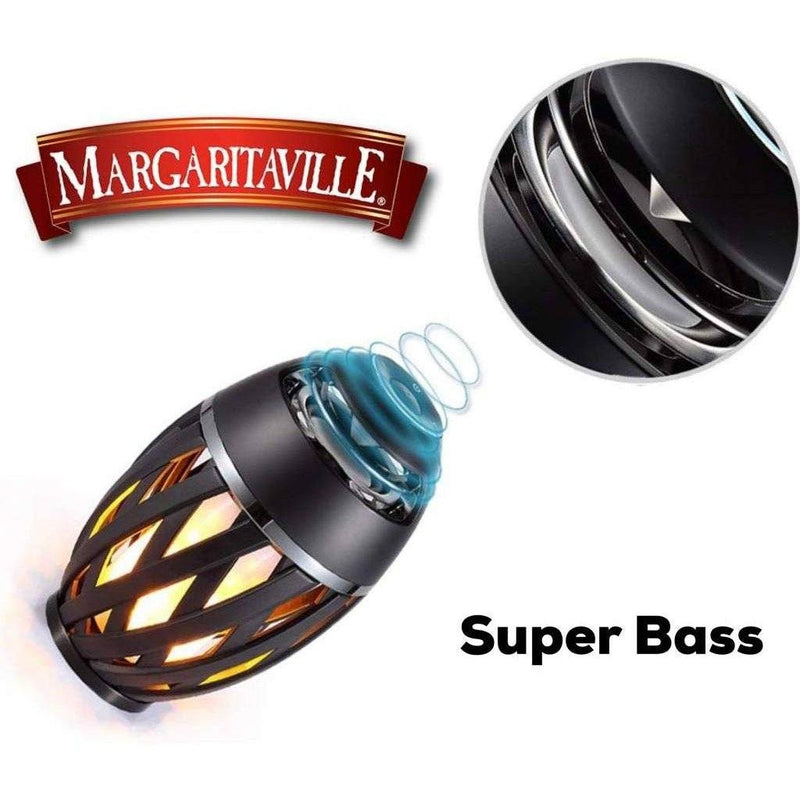 2-Pack: Margaritaville Bluetooth LED Flame Tiki-Torch Speaker with 3-Foot Pole Furniture & Decor - DailySale