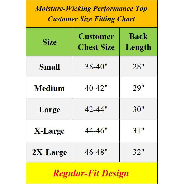 2-Pack: Men's Moisture Wicking Wrinkle Free Tagless Peformance Tops Men's Clothing - DailySale