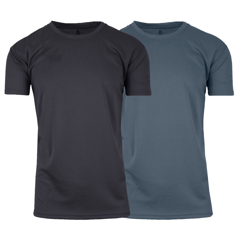 2-Pack: Men's Moisture Wicking Wrinkle Free Tagless Peformance Tops