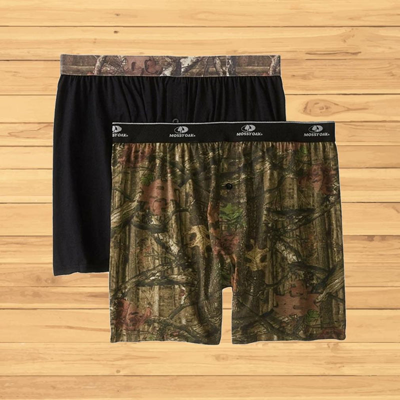 2-Pack: Men's Mossy Oak Moisture Wicking Boxer Shorts Men's Apparel S - DailySale