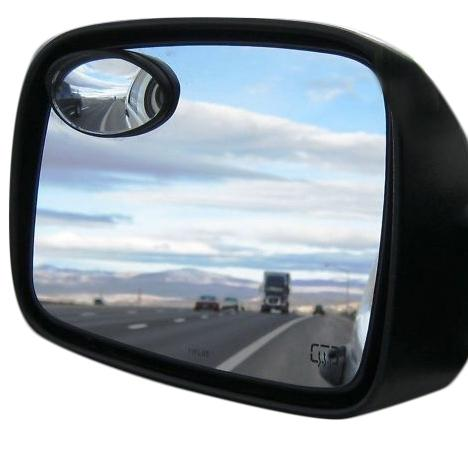 2-Pack: Oval Precision Blind Spot Mirrors Auto Accessories - DailySale