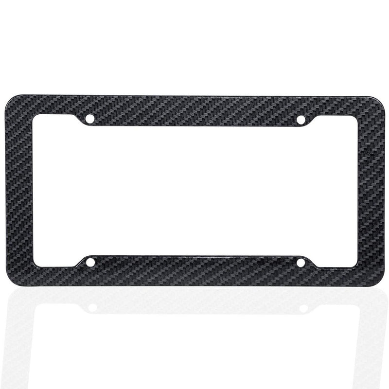 2-Pack: OxGord Carbon fiber License Plate Frame Auto Accessories - DailySale
