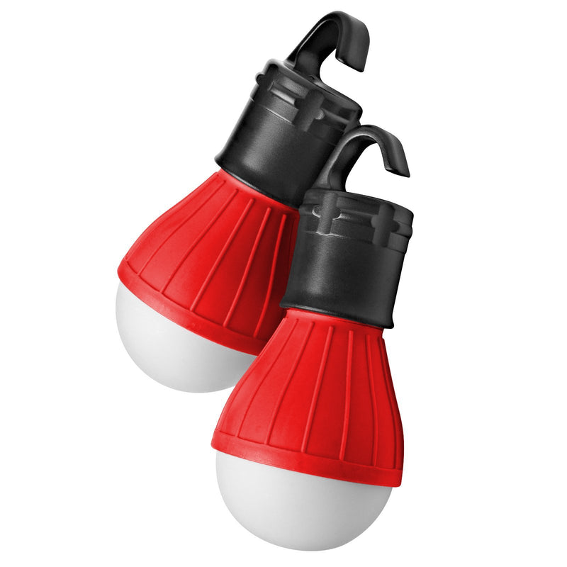 2-Pack: Portable Emergency Light Bulb with Hook