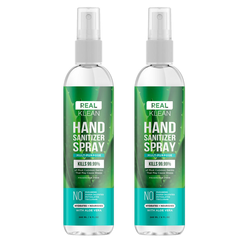 2-Pack: Real Klean Mult-Purpose Hand Sanitize Spray Wellness & Fitness - DailySale