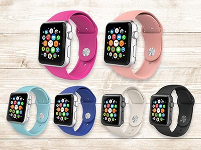 2-Pack: Silicone Apple Watch Straps Gadgets & Accessories - DailySale