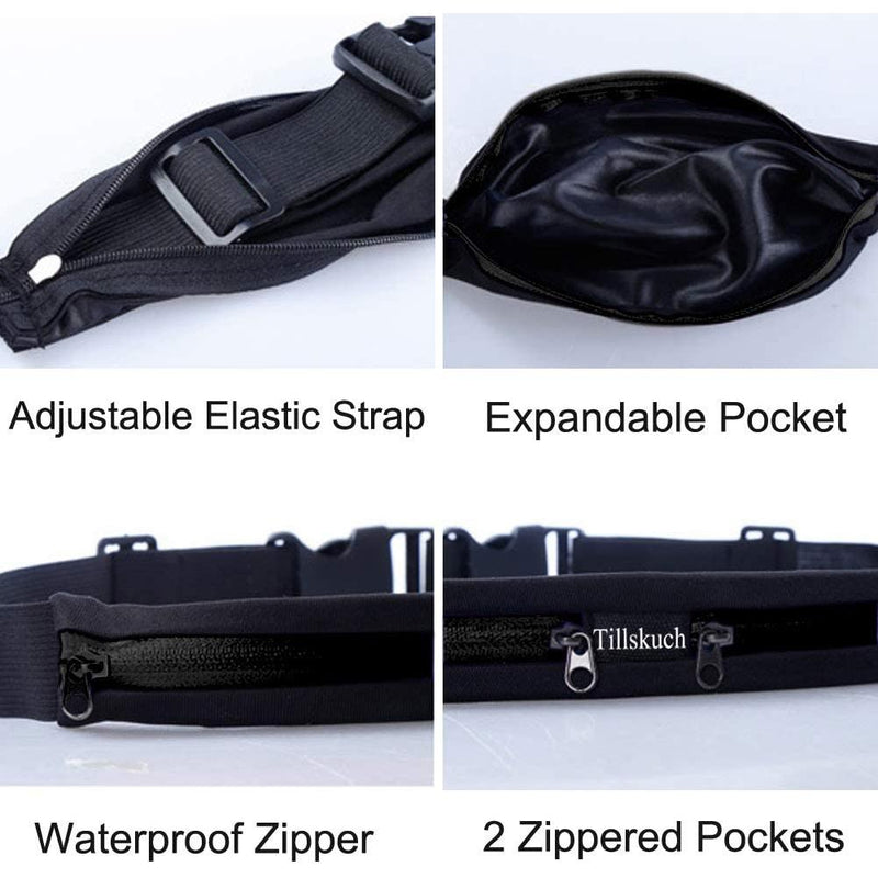 2-Pack: Slim Waist Pocket Running Belt Sports & Outdoors - DailySale