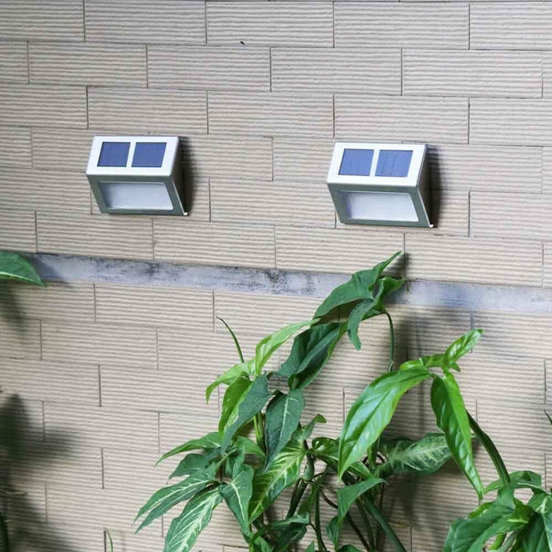 2 Pack: Solar Light 2 LEDs Wall Lamp Waterproof Security Light Home Lighting - DailySale