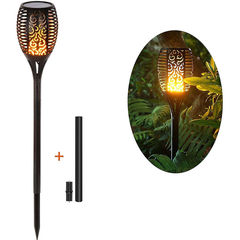 2-Pack: Solar Torch Lights Outdoor Lighting & Decor - DailySale