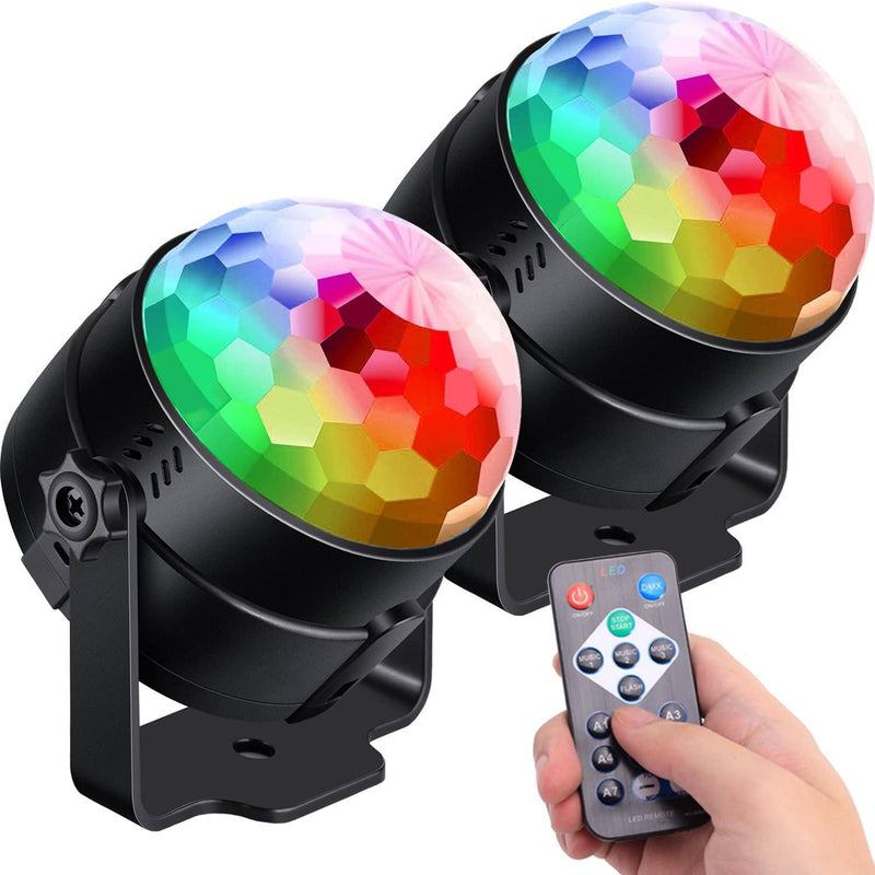 2-Pack: Sound Activated Party Lights with Remote Control Dj Lighting Lighting & Decor - DailySale