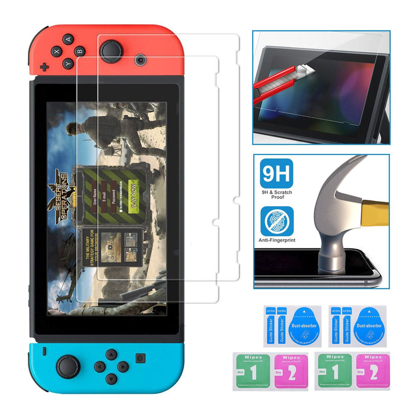 2-Pack: Tempered Glass Screen Protector for Nintendo Switch Video Games & Consoles - DailySale