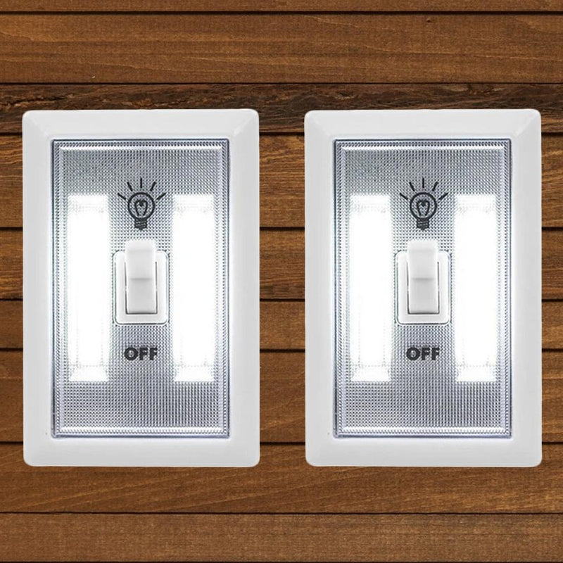 2-Pack: Ultra Bright, LED Light Switch, Stick Anywhere Home Lighting - DailySale