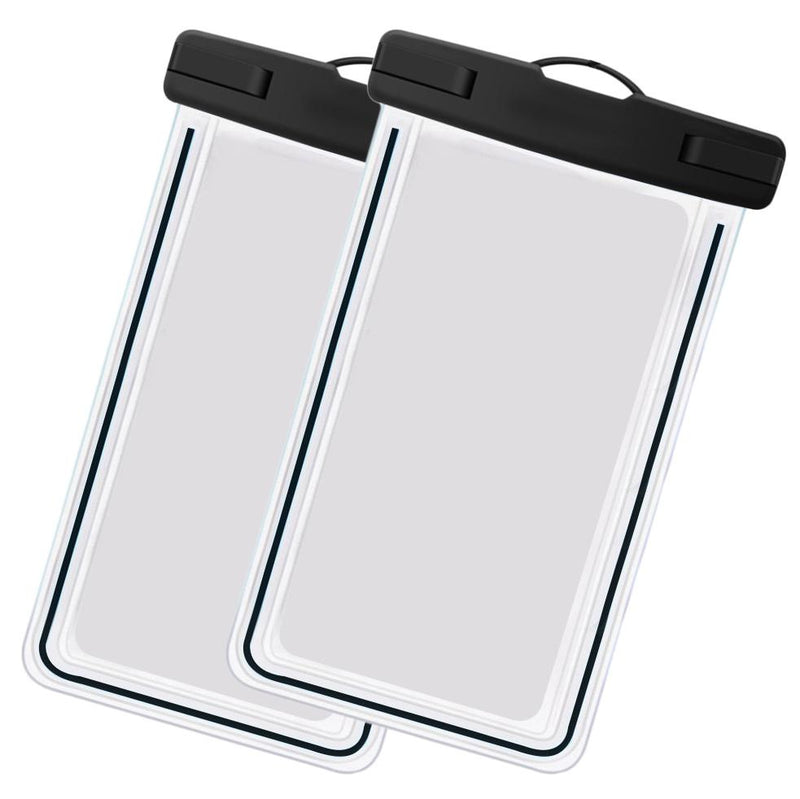 2-Pack: Universal Cell Phone Waterproof Dry Bag Case Sports & Outdoors Black - DailySale