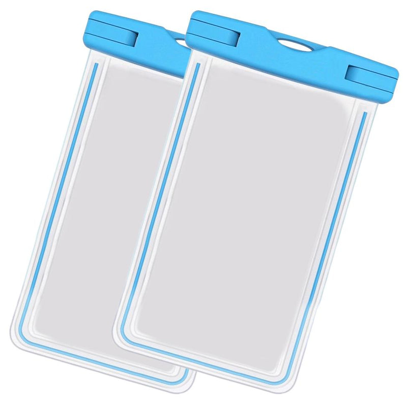 2-Pack: Universal Cell Phone Waterproof Dry Bag Case Sports & Outdoors Blue - DailySale