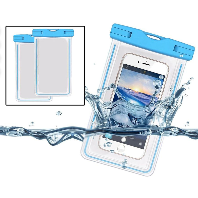 2-Pack: Universal Cell Phone Waterproof Dry Bag Case Sports & Outdoors - DailySale