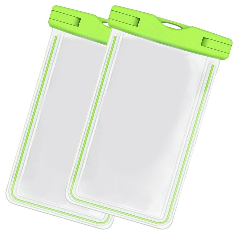 2-Pack: Universal Cell Phone Waterproof Dry Bag Case Sports & Outdoors Green - DailySale