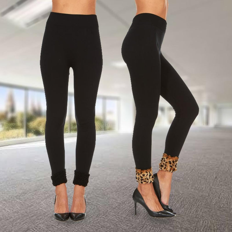 2-Pack: Women's Cuffed Fleece Leggings Women's Apparel - DailySale