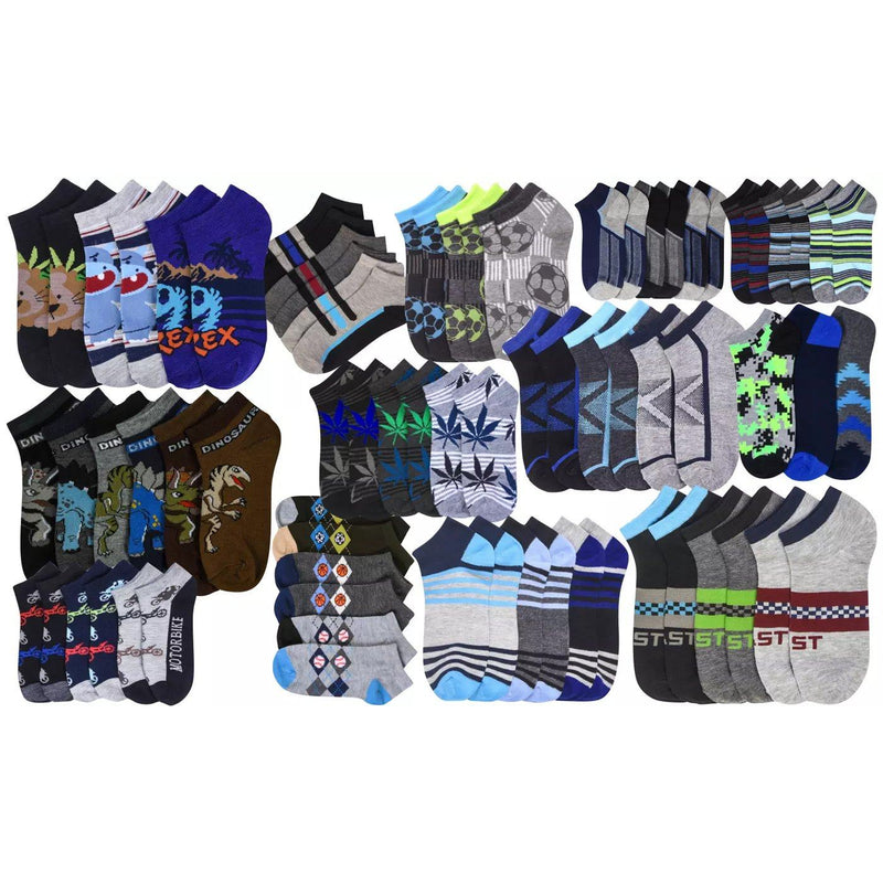2-Pairs: Mystery Kids' Low Cut Ankle Socks Boy Assorted 0-12 - DailySale