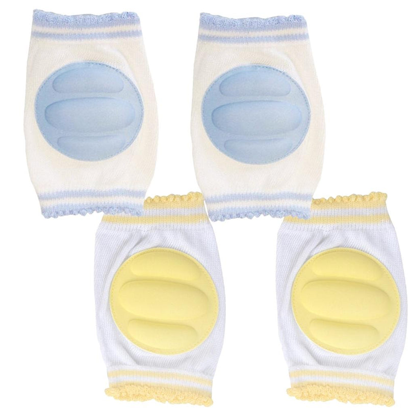 2 Pairs: Tiny Tot Knee Guards Toys & Games Blue/Yellow - DailySale